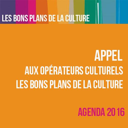 Appel aux opérateurs culturels - Les Bons plans de la Culture 2015