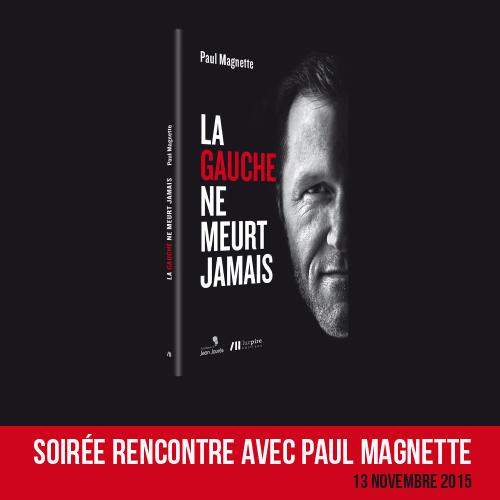 Soirée rencontre avec Paul Magnette le 13.11