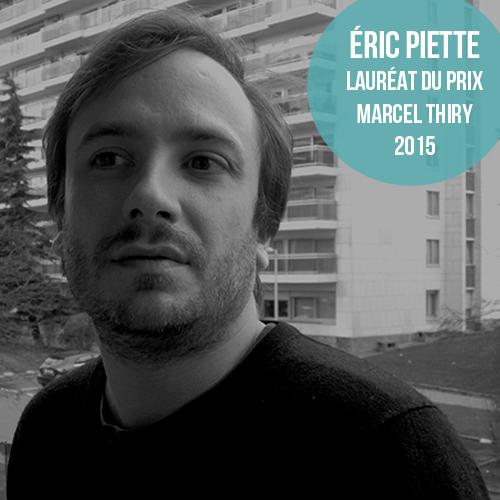"""Eric Piette, lauréat du Prix Marcel Thiry 2015 avec son recueil de poésie """"L'impossible nudité"""""""