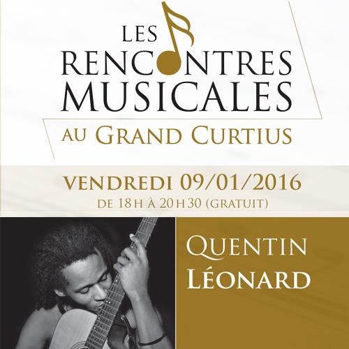 Rencontres musicales au Grand Curtius : Quentin Léonard le 09.01.2016