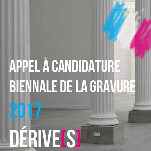 Appel à candidature 11e Biennale de Gravure de Liège - 2017
