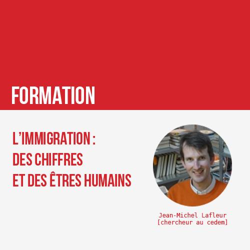 Formation PS : L'immigration : des chiffres et des êtres humains