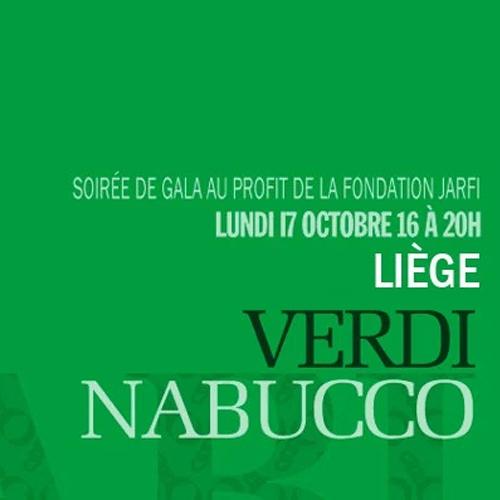 17 octobre: Soirée de gala de la Fondation – Nabucco à l'ORW